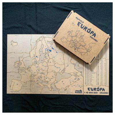 Mapucle Európa - krajiny / náučná skladačka
