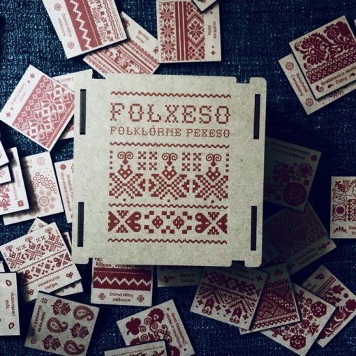 Folxeso - Slovenské folklórne vzory / drevené pexeso