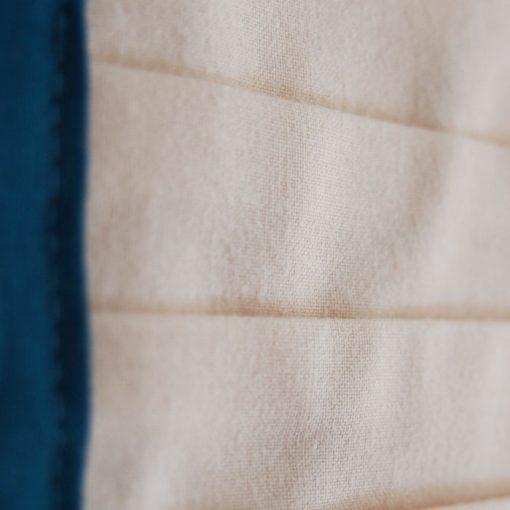 Béžové bavlnené rúško na tvár