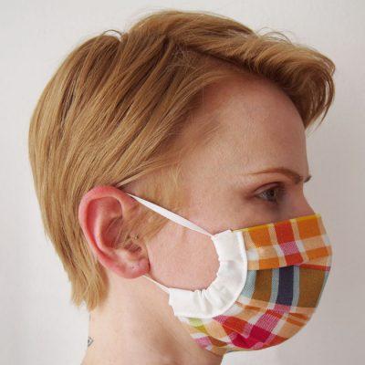 Farebné bavlnené rúško na tvár