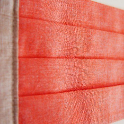 Lososovo oranžové bavlnené rúško na tvár