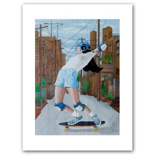 Blue sky rider - Parxant- Abstraktné stavy / grafika