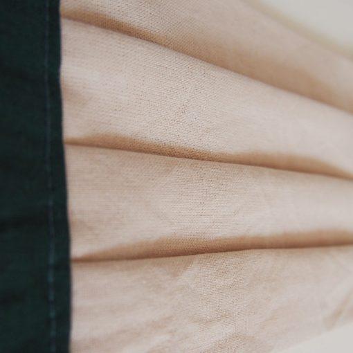 Béžové letné bavlnené rúško na tvár