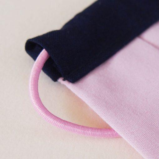 Ružové bavlnené rúško na tvár