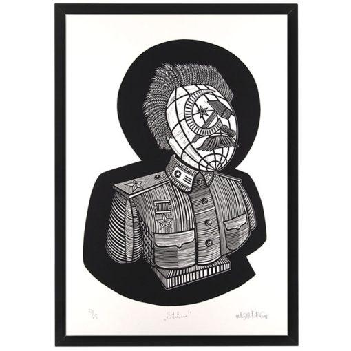Stalin - Matúš Maťátko, 50 x 70 cm / sieťotlač grafika