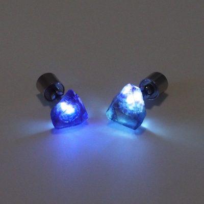 Fluorit - Firefly / svetelné náušnice