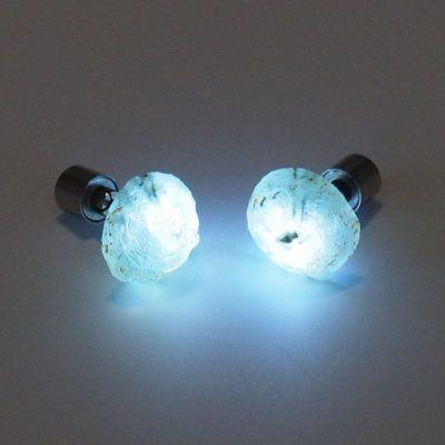 Prehnit- Firefly / svetelné náušnice