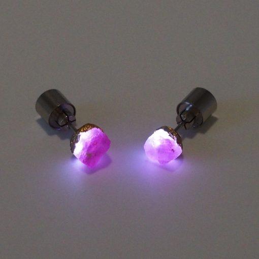Rubín - Firefly / svetelné náušnice