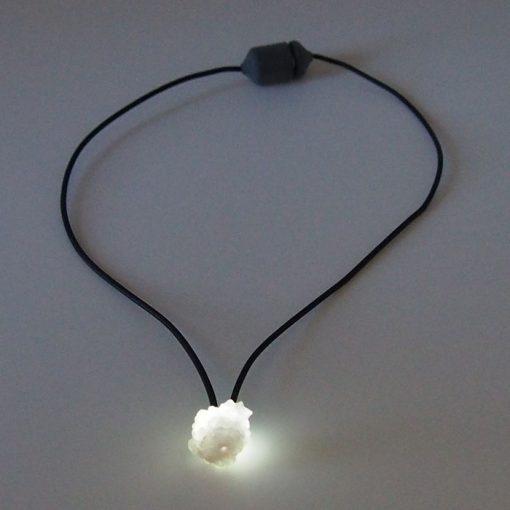 Achát biely - Firefly / svetelný prívesok