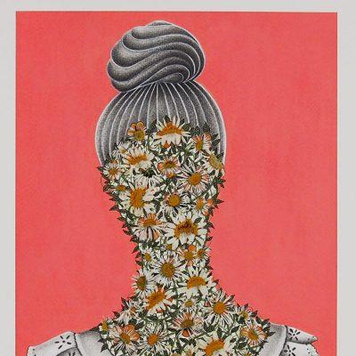 I smelt flowers at Susan´s garden – Katarína Branišová / kresba v ráme