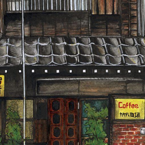 Lena Kollar - Coffe house / gyclée grafika