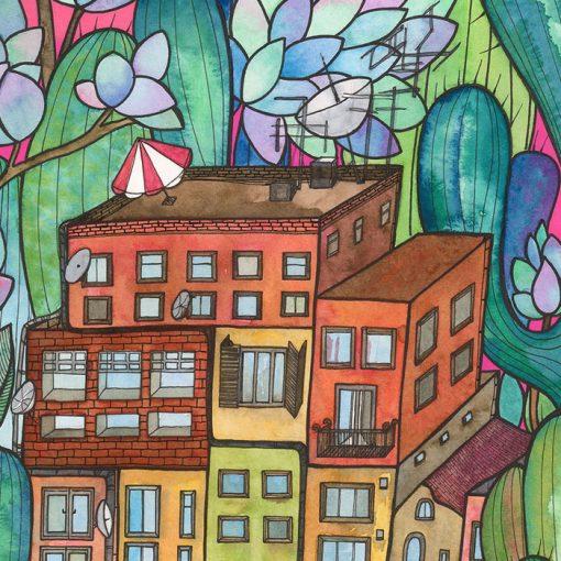 Lena Kollar - The town / gyclée grafika
