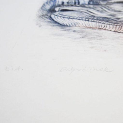 Petra Kováčová - Odpočinok, farebný / hĺbkotlač