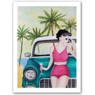 California dream - Katarína Branišová / grafika