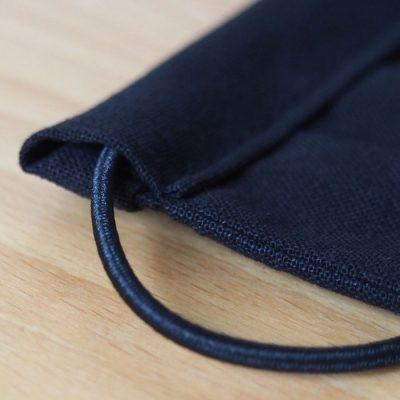 Čierne bavlnené rúško na tvár + čierne gumičky