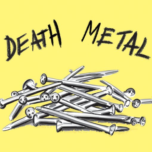 Death metal - K. Koronthályová / grafika