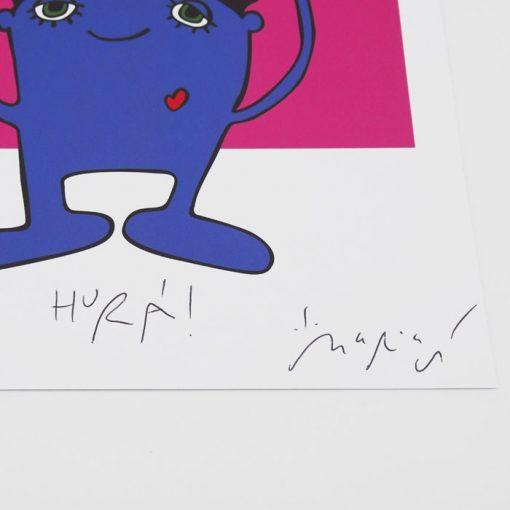 Hurá! pink - Mária Slováková / grafika