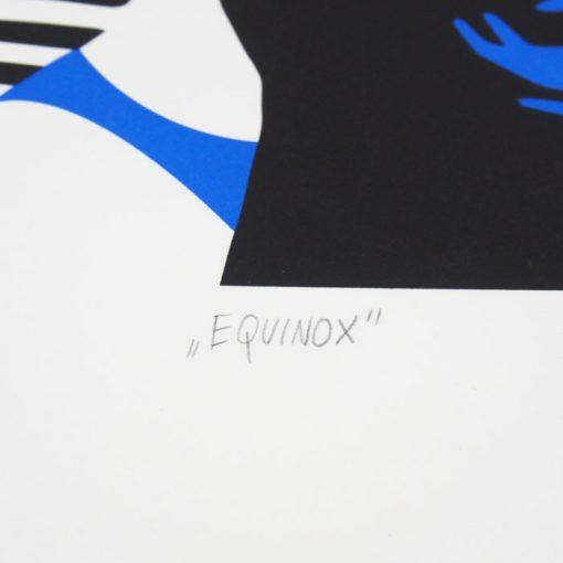 Equinox modrý - Tenger / sieťotlačová grafika