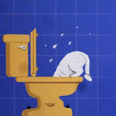 Mačka a voda - Zuzana Bartová / giclée grafika