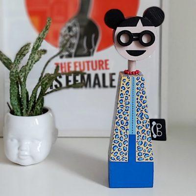 Kofi - drevená bábika / soška