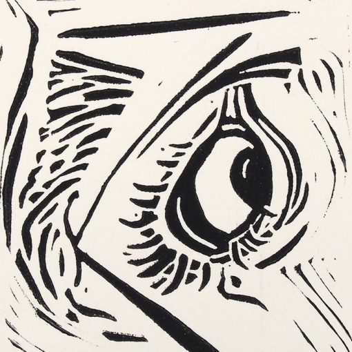 Chiara Némethová - Disgusting, 12x8 / linoryt grafika