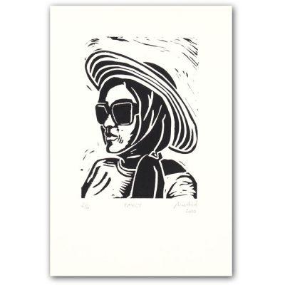 Chiara Némethová - Fancy, 18x23 / linoryt grafika