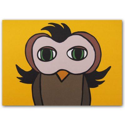 Odelle the Owl - Mária Slováková / pohľadnica