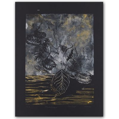 Petra Kováčová - Kalatea, čierna 50 x 40 cm / linoryt grafika