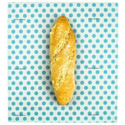 Včelobal Bodky L, 34 x 37 cm / obal na potraviny