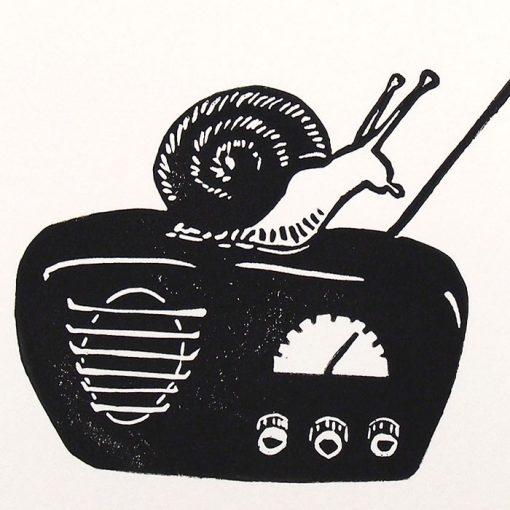 Zuzana Milánová - Radio, 18x13 / linoryt grafika