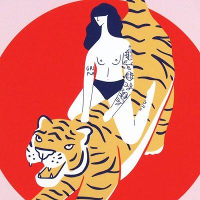 Tiger Girl - Žužu Gálová / grafika