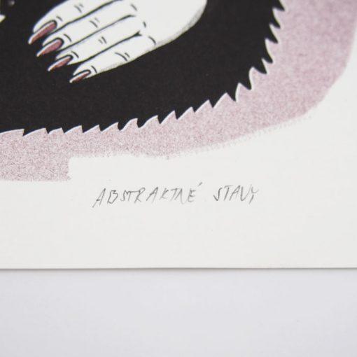U čerta - Abstraktné stavy / risografika