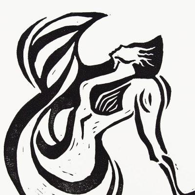 Chiara Némethová - Fish, 25x18 / linoryt grafika
