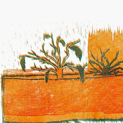 Kochlík - Denisa Kollarova, 64 x 48 cm / linorytová grafika