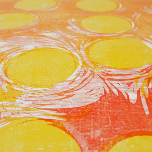 Suns - Denisa Kollarova, 64 x 48 cm / linorytová grafika
