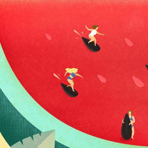 Letné rozmary - Katarína Hutníková / giclée grafika