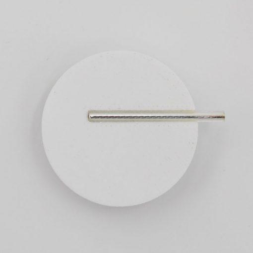 Kruh veľký, biela - Nikoleta Design / brošňa s magnetom