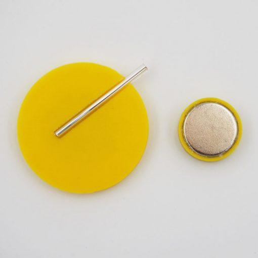 Kruh veľký, žltá - Nikoleta Design / brošňa s magnetom