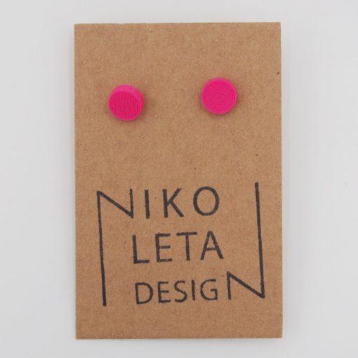 Bodky ružové - Nikoleta Design / náušnice
