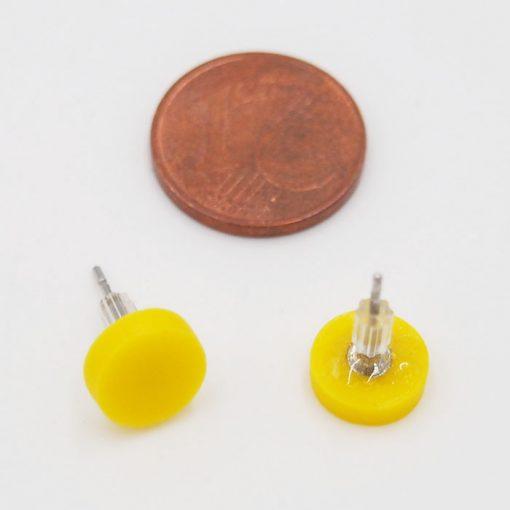 Bodky žlté - Nikoleta Design / náušnice