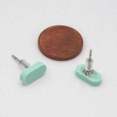 Čiarky malé mentol - Nikoleta Design / náušnice