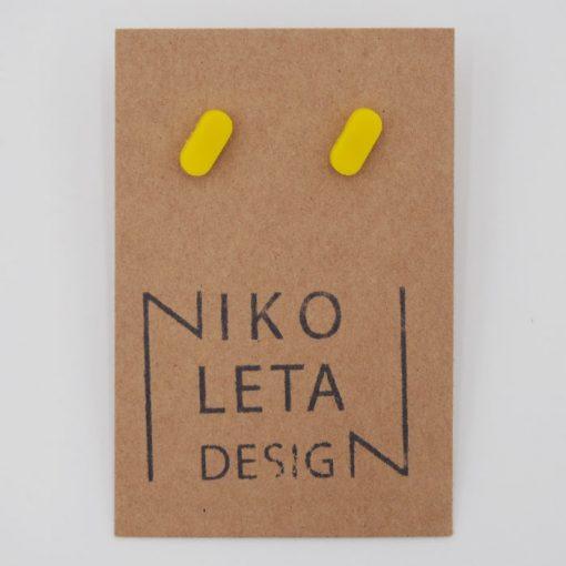 Čiarky malé žlté - Nikoleta Design / náušnice