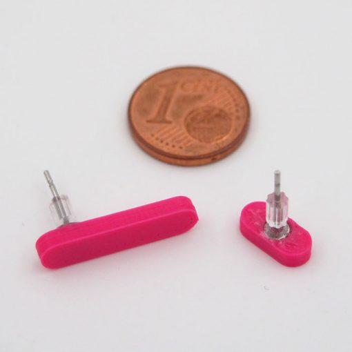 Čiarky veľká/malá ružové - Nikoleta Design / náušnice