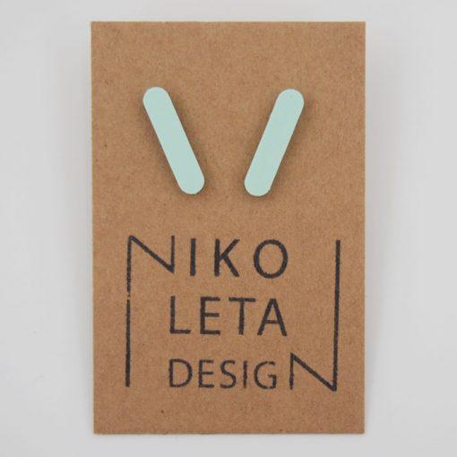 Čiarky veľké mentol - Nikoleta Design / náušnice