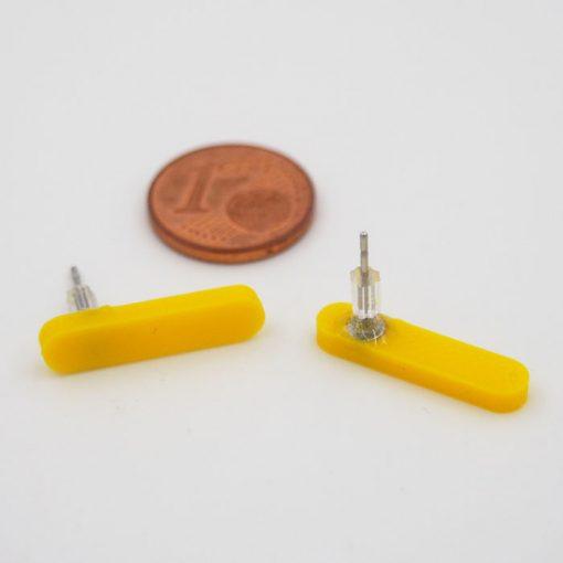 Čiarky veľké žlté - Nikoleta Design / náušnice