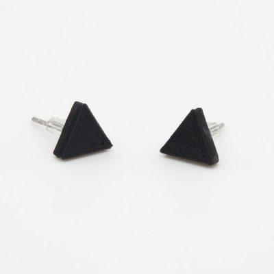 Trojuholníky čierne - Nikoleta Design / náušnice