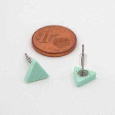 Trojuholníky mentol - Nikoleta Design / náušnice
