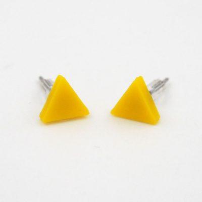 Trojuholníky žlté - Nikoleta Design / náušnice