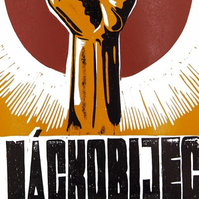 Náckobijec - Tlačenka, A2 / linoryt grafika