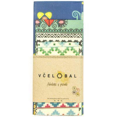 Včelobal Folklór S,M,L,XL pack / obaly na potraviny 4ks